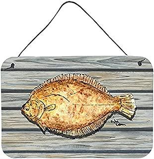 Caroline's Treasures Fish Flounder Aluminum Metal Wall or Door Hanging Prints, 8 x 12