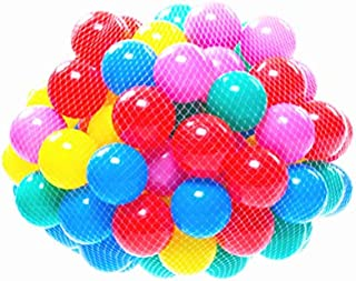 Soft Balls 100 pcs with a Storage Bag Multi-Colored BPA-free Play Tent Balls Thicken Plastic Secure Ocean Playpen Balls