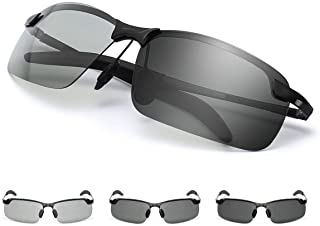 GGBuy Photochromic Driving Glasses Day and Night 2 in 1 Polarized Sunglasses Anti-Glare UV Protection for Men Women