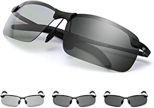 GGBuy Photochromic Driving Glasses Day and Night 2 in 1 HD Vision for Women Men
