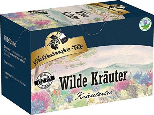 Goldmännchen Tee Wilde Kräuter aus Thüringen, 20 einzeln versiegelte Teebeutel, 3er Pack (3 x 30 g)