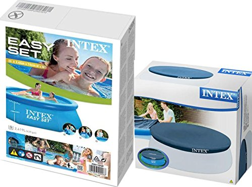 Intex 28110 – 244 x 76 cm 2419l Pool – Juego Easy – Set de Jardín Piscina + cubierta protectora gratuito Original para 243 cm Base de Intex: Amazon.es: Jardín