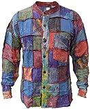 Gheri - Camisa para abuelo de algodón teñido con parche lavado a piedra