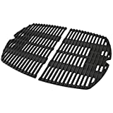soldbbq 7646 7584 Replacement Cooking Grates for Weber Q300 Q320 Q3000 Q3200 Series Gas Grills, Matte Cast Iron Cooking Grate Replacement Parts for Weber 7646 7584