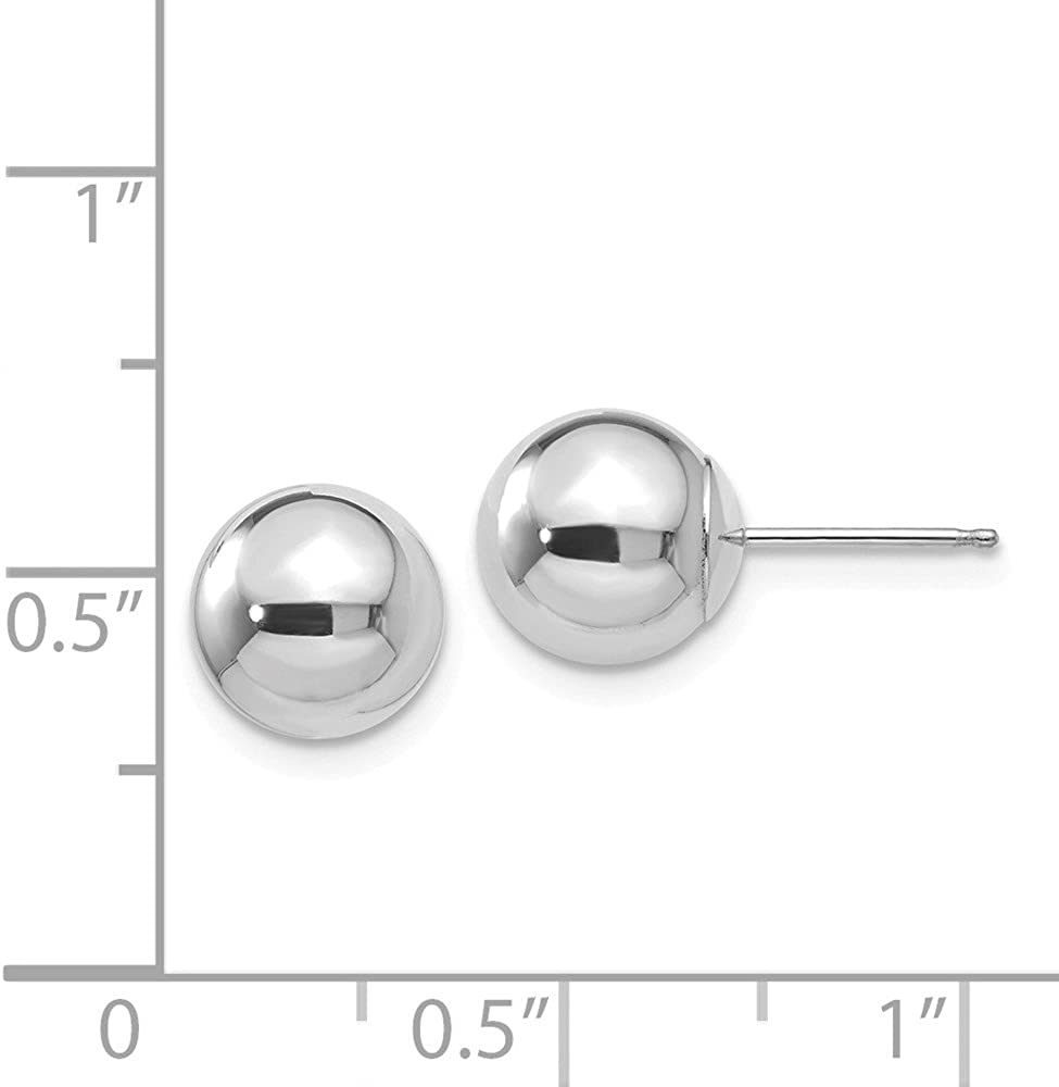 Jewels By Lux 14k White Gold Polished 8mm Ball Post Earrings