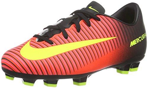 Nike Unisex Jr Mercurial Vapor XI FG - Scarpe da calcio ragazzo, Multicolore (Rosa-Rot/Gelb/Schwarz/Pink) , 28.5 EU (11 UK)