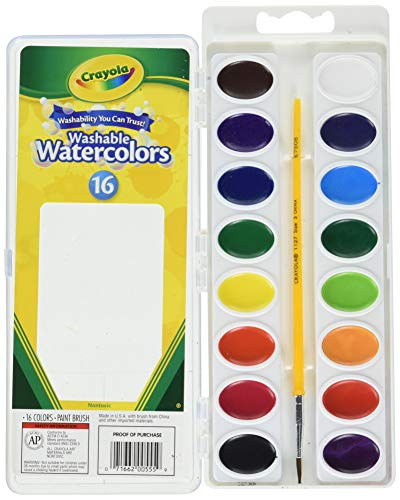 Crayola Washable Watercolors, 16 Count (Pack of 2) Total 32 Count