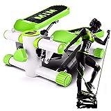 Mini Stepper 2 en 1 con Cuerdas Equipo para el hogar Equipo de Fitness silencioso Twist Peso soportado hasta 135 kg Eléctrico Adecuado para Sala de Estar, Oficina, Gimnasio A