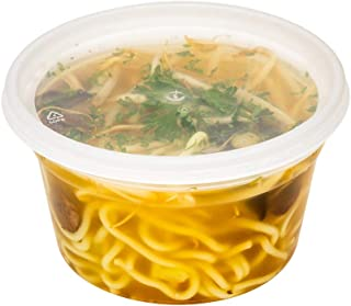 Restaurantware RWP0196C Microwavable to-Go Container, 12 oz, Clear