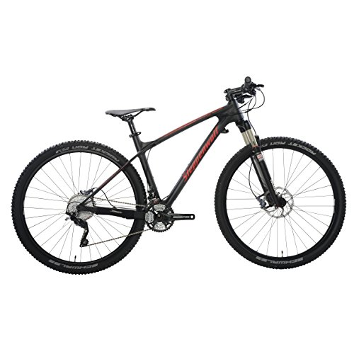 Steppenwolf Men's Tundra Carbon LTD Hardtail Mountain Bike, 29 inch wheels, 20 inch frame, Men's Bike, Black/Red, 99% assembled