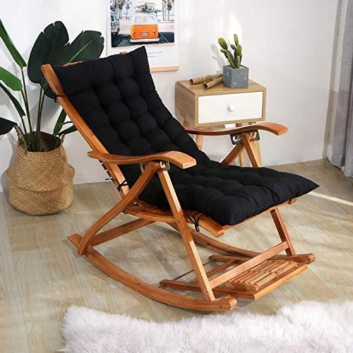 Cojines De Muebles De Jardín Cojín De Silla Diseño Acolchado,Cómodos Cojín De Asiento De Jardín,Acolchado Grueso-Negro 48x120cm