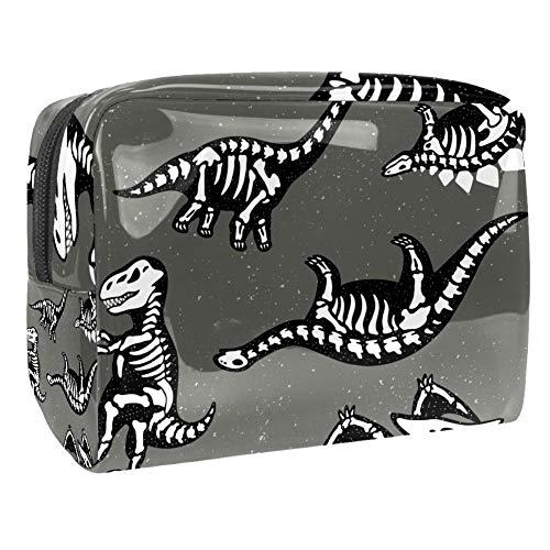 TIZORAX Funny Dinosaurs Skeletons Fossil Cosmetische Tassen PVC Make-up Tas Reizen Toiletten Handige Pouch Organizer voor Vrouwen