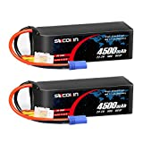 Socokin 6S Lipo Battery 22.2V 50C 4500mAh with EC5 Plug for RC Car Boat RC Helicopter Airplane (2 Pack)