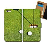 Disney Mobile SH-02G ケース 手帳型 スポーツ 手帳ケース スマホケース カバー ゴルフ GOLF 芝生 グリーン パター E0334020072103