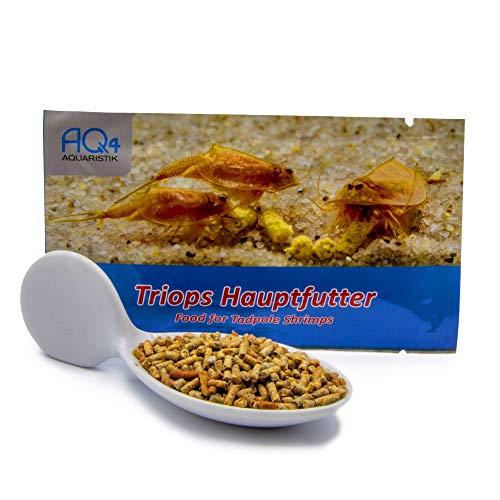 AQ4Aquaristik Hauptfutter für Triops - Futter für Urzeitkrebse - Futtersticks mit Gemüse, Algen und Krebstieren - mit Anleitung