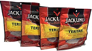 Jack Links 4 Teriyaki Packs of Jerky (80g per Bag)