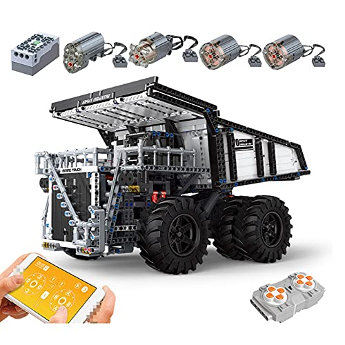QZPM Technic Coche De Control Remoto Modelo De Alta Velocidad Camión Vehículo Controlado Conjunto De Bloques De Construcción Regalo para Niños
