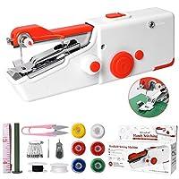 macchina cucire portatile, mini macchina da cucire elettrica portatile, facile da usare e punto veloce, adatto per vestiti, tessuti, cutain, viaggi domestici fai da te