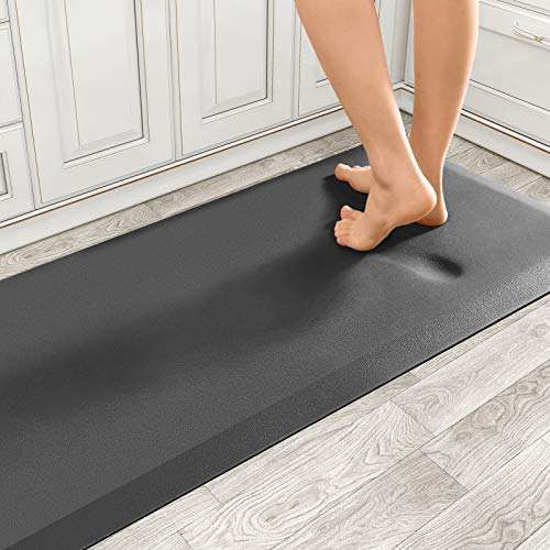 Standing Mat Non Slip Anti Fatigue Kitchen Floor Mats, 0.75 inch Thick Cushioned PVC Mat for Kitchen, Office, Laundry Room and Stand-up Desks