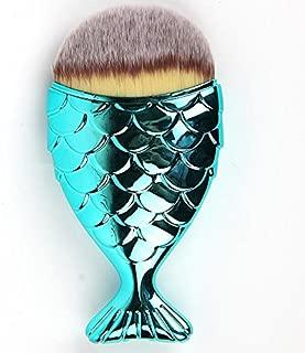 Mermaid Fish Makeup Brush, Powder brush,WINNING Face Brush Fishtail Bottom Brush Powder Blush Foundation Cosmetic Brushes Tool 1pcs … (Blue)
