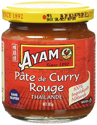 AYAM Pâte de Curry Rouge - Lot de 3