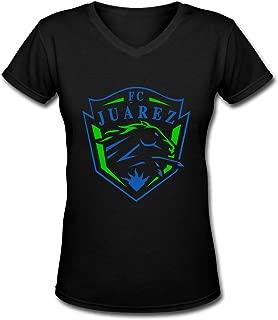 SRWSAFD FC Juarez Bravos Mexico Sexy Women Bare Midriff Crop Top T-Shirts