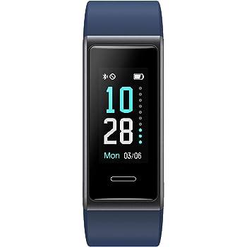 スマートウォッチ Yamay 歩数計 心拍計 活動量計 ストップウォッチ 着信通知 睡眠モニター IP68防水 画面の明るさ調節 最長連続7日間使用可能 iPhone&Android対応