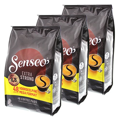 Senseo Kaffeepads Extra Strong / Extra Kräftig, Intensiver und Vollmundiger Geschmack, Kaffee für Kaffepadmaschinen, 144 Pads