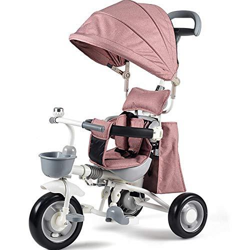MARXIAO Kinderwagen Fahrrad Einstellbare Push-Pull-Griffe Für Markisen Und Teleskop Geeignet 1-5 Jahre Alten, Kinder Dreirädrigen Trolley,B