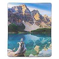 山の湖の反射カナダを反映マウスパッド ゲーミング マウスパッド キーボードパッド パソコンデスクパッド 防水 18*22cm