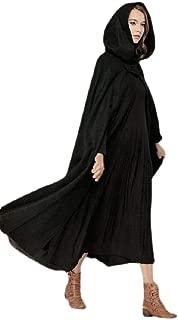 Macondoo Womens Hooded Wool Blended Plus Size Outwear Long Jacket Coat