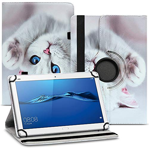 UC-Express Tablet Hülle kompatibel für Huawei MediaPad M2 10.0 Tasche Schutzhülle Hülle Cover 360° Drehbar, Farben:Motiv 11