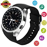 Smart Watch Android Smartwatch Touch Screen Bluetooth Smart Watch Compatible with iPhone Android Wrist Phone Watch with SIM Card Slot Fitness Tracker Waterproof Smart Watches for Men Women (Silver)