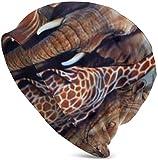 Whecom Strickmtzen, Giraffe Rhino Elephant and Tiger Valentine Funny Upgrade Hip- Adult Knit Beanie Warm Knit Ski Skull Cap Beanie Mtze One Size fr Damen und Herren