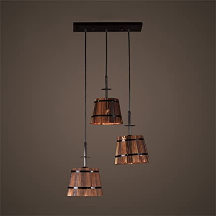 Amazon.es: lampara rustica - Madera / Iluminación de ...