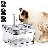 最新型屋内用の猫と犬の飲用噴水、2アウトレットモードの超静かな猫の飲用噴水、超静か、3リットルの大容量、自動循環の完全に透明な猫の飲用噴水、マルチフィルター活性炭フィルター付きの自動サイレント循環飲用噴水
