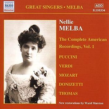 Melba, Nellie: American Recordings, Vol. 1 (1907)