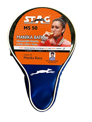 Stag Manika Batra MS-50 Table Tennis Racquet( Multi- Color, 188 grams, Intermediate )