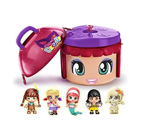 Pinypon- Dress Up Party, 5 Figuras con contenedor, Disfraces de fista, edición Limitada, Juguete (Famosa 700015882)