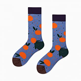 Calcetines Street Creative Fruit Funny Calcetines Colorful Banana Orange Pineapple Strawberry Cute Socks Women Happy Divertidos Crew