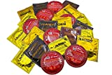 Bigger Boys Large Condom Variety Pack with Silver Lunamax Pocket Case (Trojan Magnum, Lifestyles Kyng, One Legend, and Caution Wear Grande)-24 Count