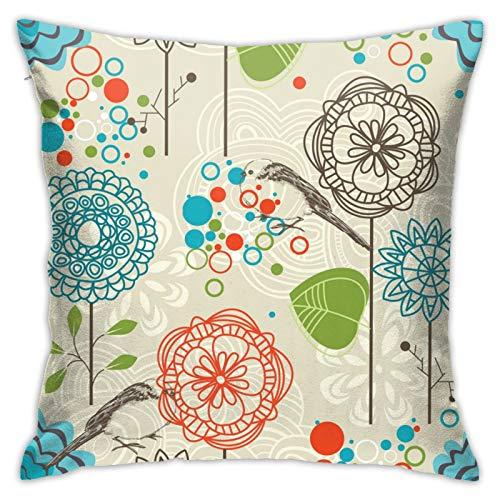 MZZhuBao Funda de almohada con diseño retro para el hogar, decoración para hombres/mujeres, sala de estar, dormitorio, sofá, silla