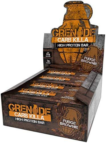 Grenade Carb Killa Barretta Proteica a Basso Contenuto di Carboidrati, Fudge Brownie, 12 x 60 g