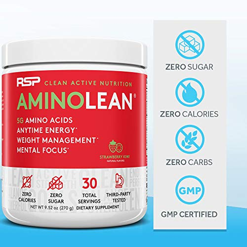 RSP AminoLean - All-in-One Pre Workout, Amino Energy, Weight Management Supplement with Amino Acids, Complete Preworkout Energy for Men & Women, Watermelon, 30 (Packaging May Vary) 8