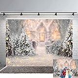 Avezano Fondos grandes para fotografía de árboles de Navidad de 2,4 m x 1,8 m para invierno, nieve, decoración de fiesta de Navidad, para familia, bebé, recién nacido, fondo para estudio de fotos