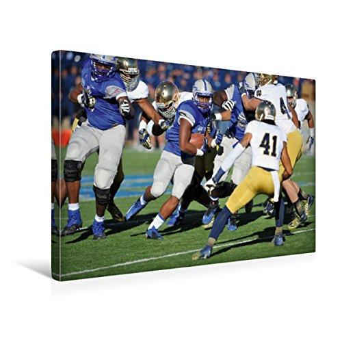 CALVENDO Premium Textil-Leinwand 45 x 30 cm Quer-Format Touchdown - American Football, Leinwanddruck von Renate Bleicher