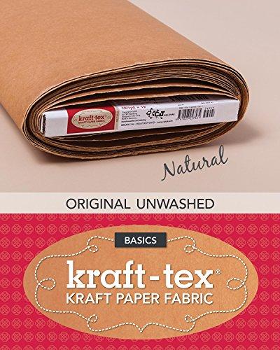 kraft-tex (TM) Basics Bolt, Natural: Kraft Paper Fabric (Kraft-Tex Basics)