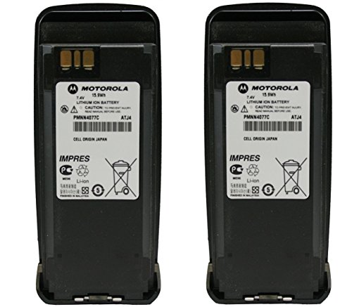 Motorola Original OEM PMNN4077C High Capacity 2200 mAh 2 Pack Battery For XPR6100 XPR6300 XPR6350 XPR6380 XPR6500 XPR6550 IMPRES Cheap replaces PMNN4065 PMNN4066A PMNN4077
