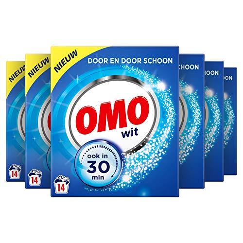 Omo Waspoeder Wit Wasmiddel 6 x 14 wasbeurten Voordeelverpakking