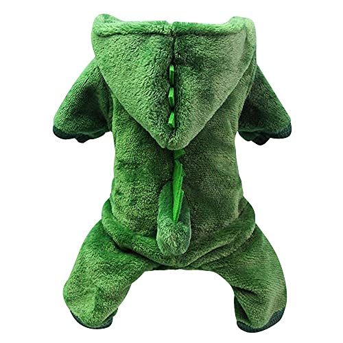 Disfraces de Perro, Ropa para Mascotas Sudadera con Capucha de Disfraz de Dinosaurios Divertidos para Cachorro SuéTer para Mascotas